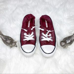 Burgundy Converse All Stars Sneakers Size 5 Women